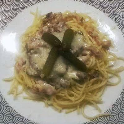 Sztroganov csirke spagettivel